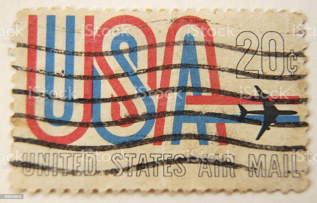 Old stamp from USA. stock photo