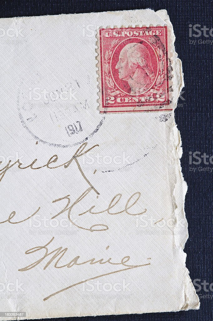 Old Stamped Envelope stock photo