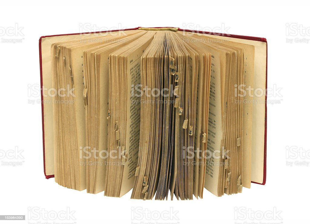 Old standing dictionary royalty-free stock photo