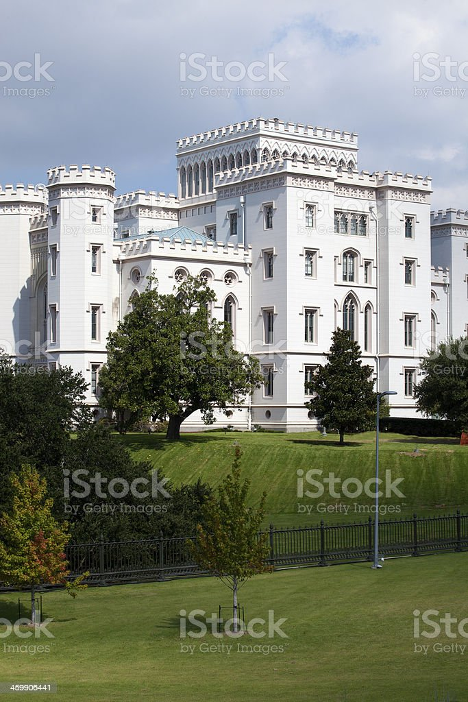 Old State Capitol in Downtown Baton Rouge, Louisiana stock photo