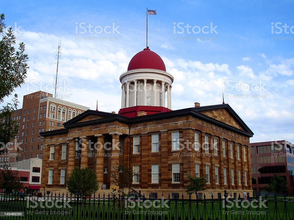 Old State Capitol in Springfield, Illinois stock photo