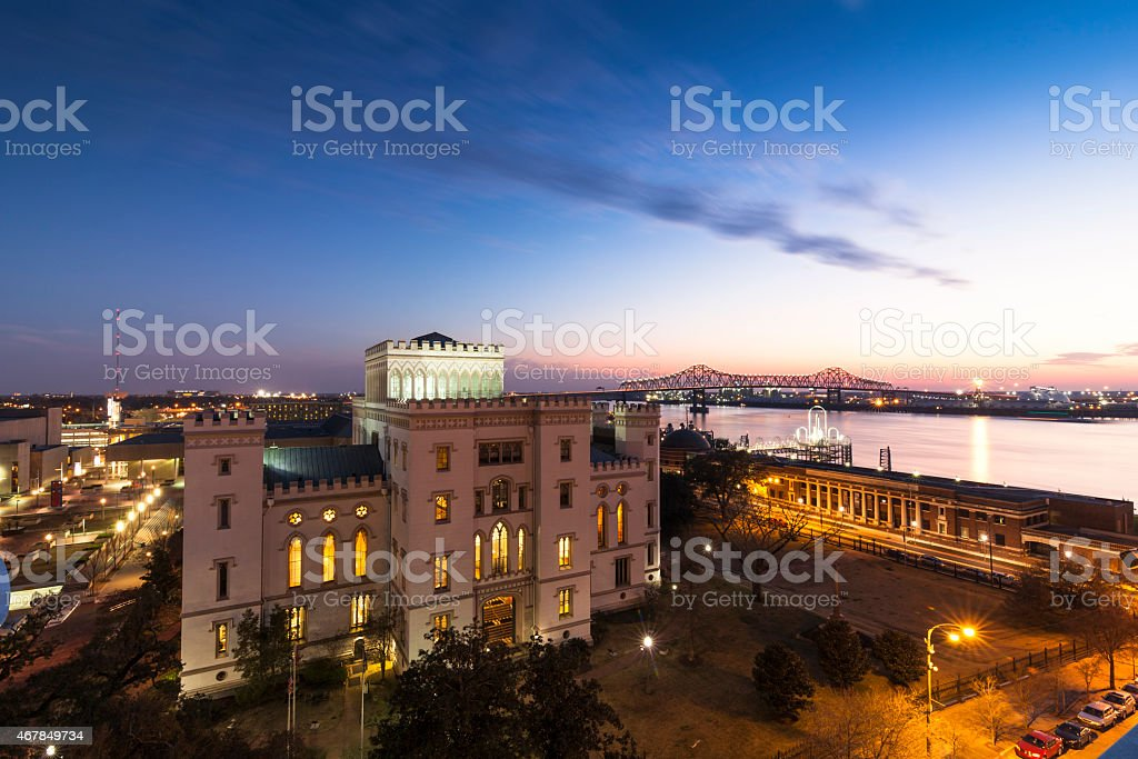 Old State Capitol of Louisiana stock photo