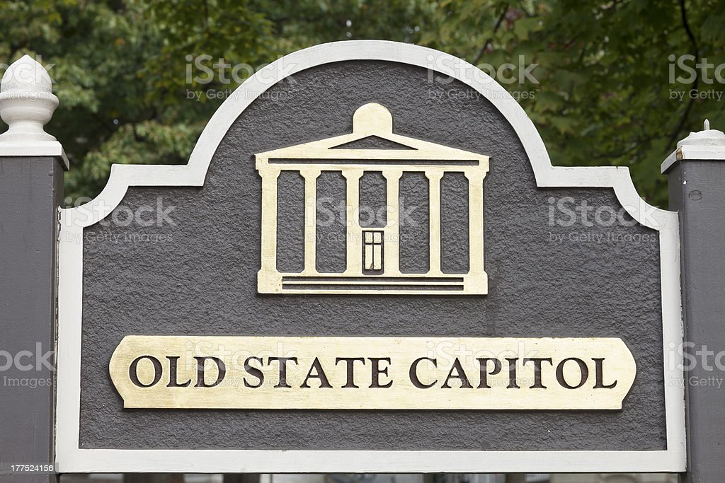 Old State Capitol sign royalty-free stock photo