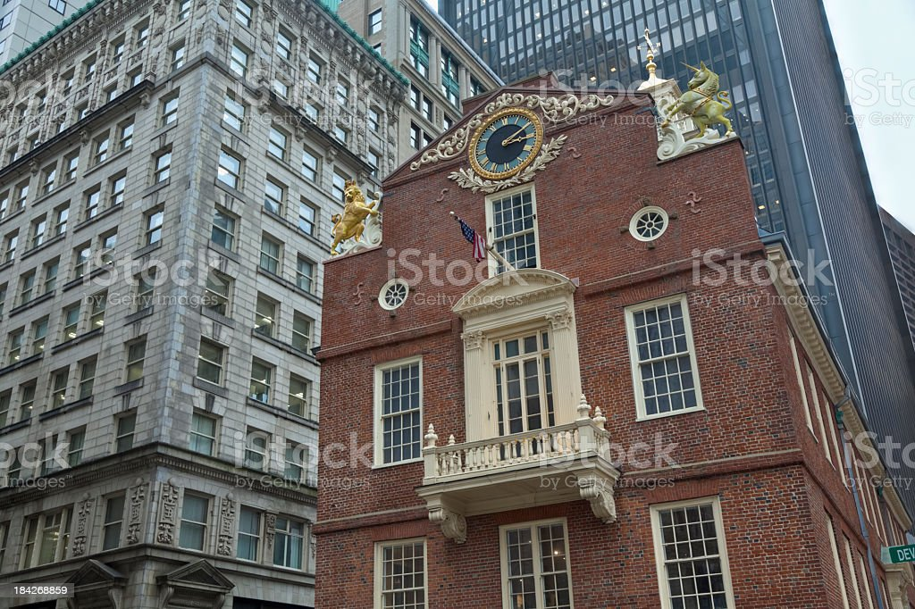 Old State House Museum's East Facade with Balcony stock photo