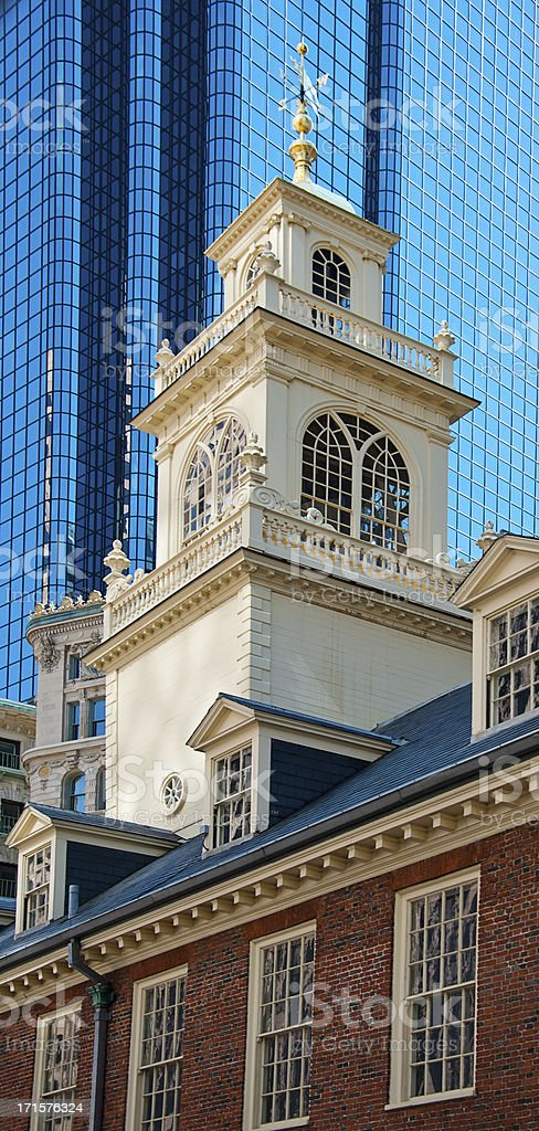 Old State House Tower, Boston stock photo