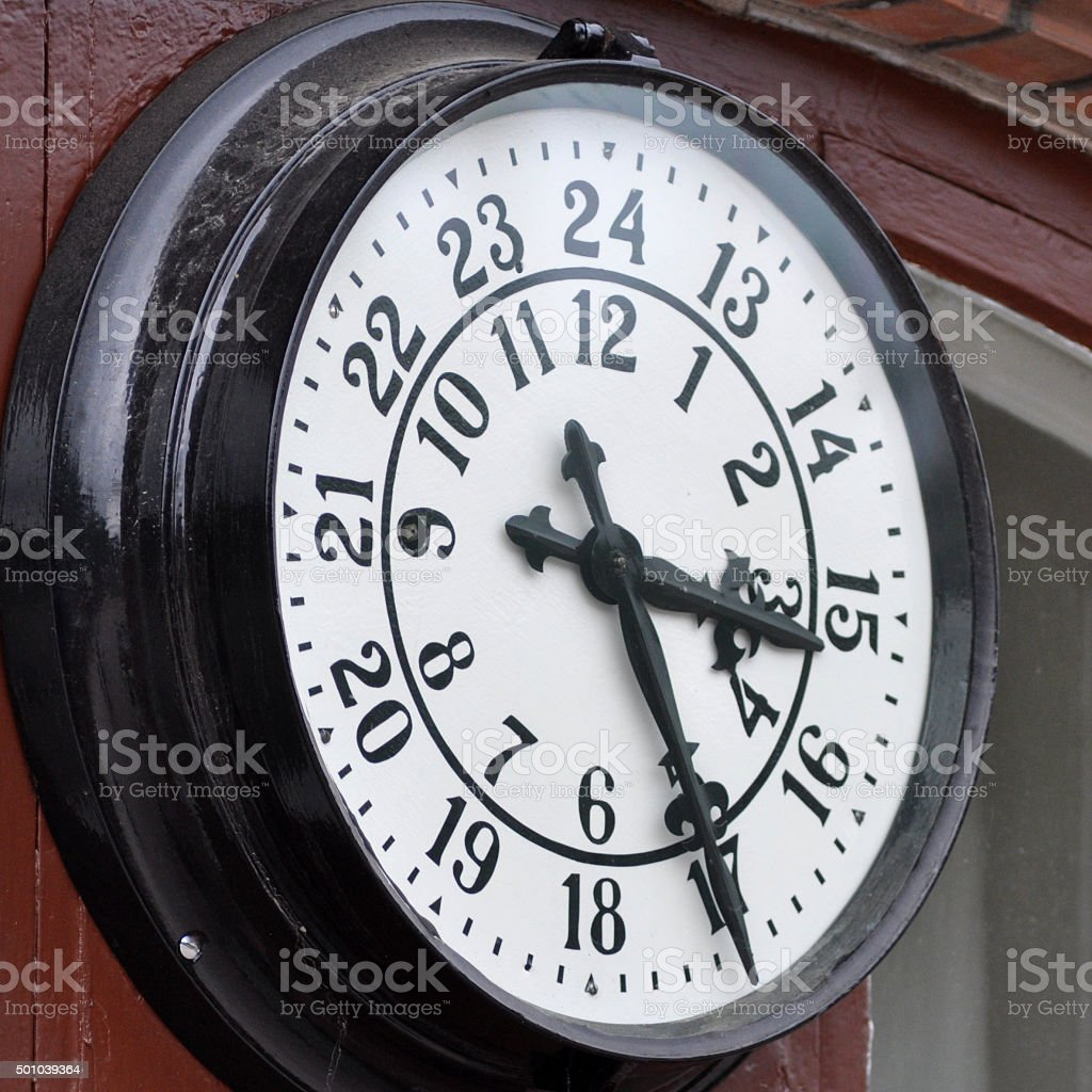 Old Station Clock, Sweden stock photo