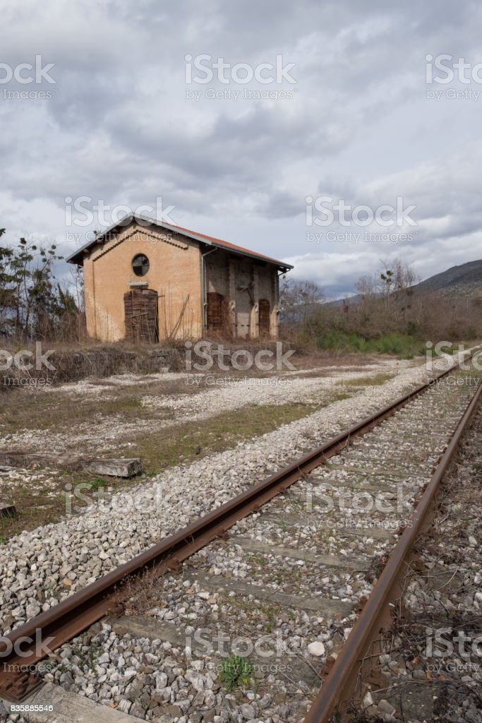 Old Station stock photo
