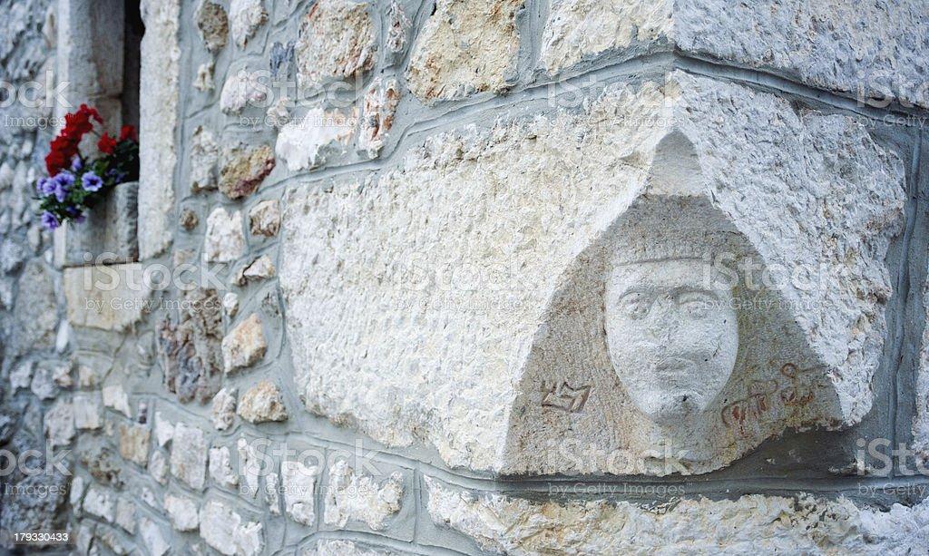 Old Statue in Dobrinj stock photo