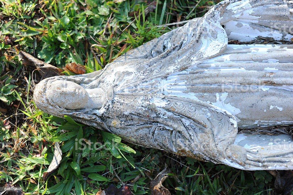 Antigua estatua foto de stock libre de derechos