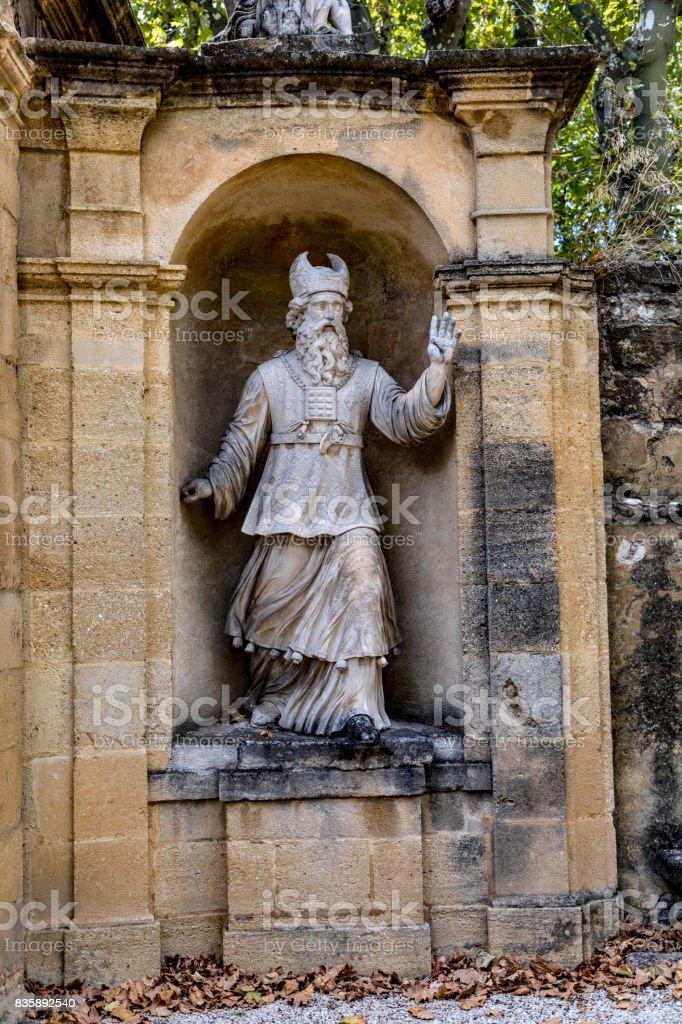 old  statues in Aix en provence in joseph sec mausolee stock photo