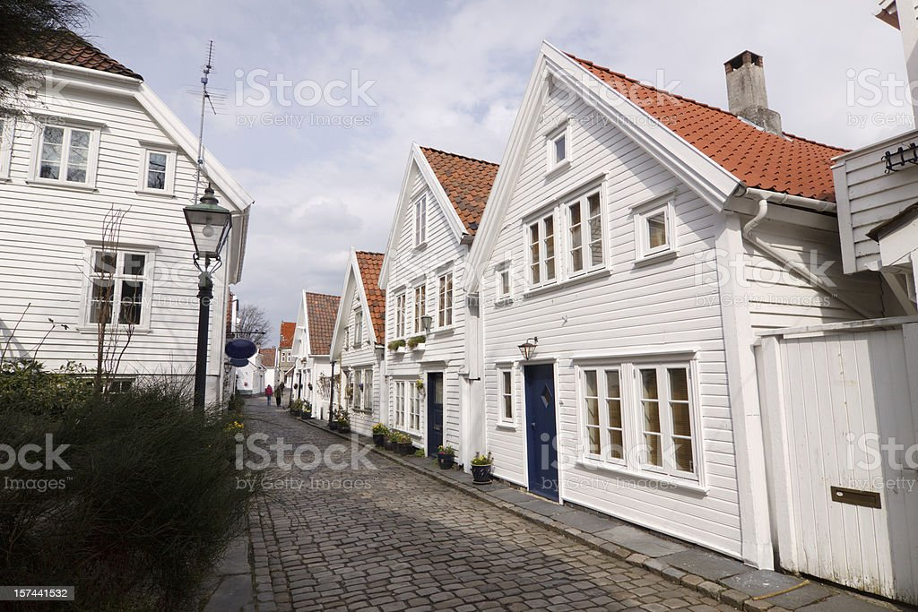 Old Stavanger, Norway royalty-free stock photo