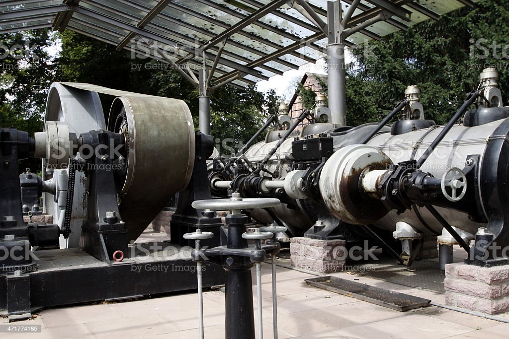 Old steam engine in Bodenwerder stock photo