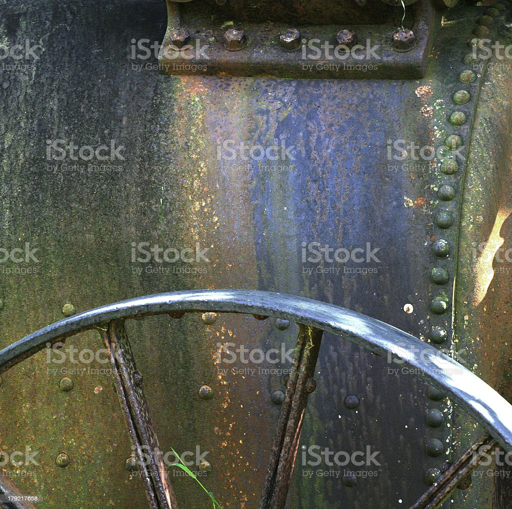 Old steam engine royalty-free stock photo