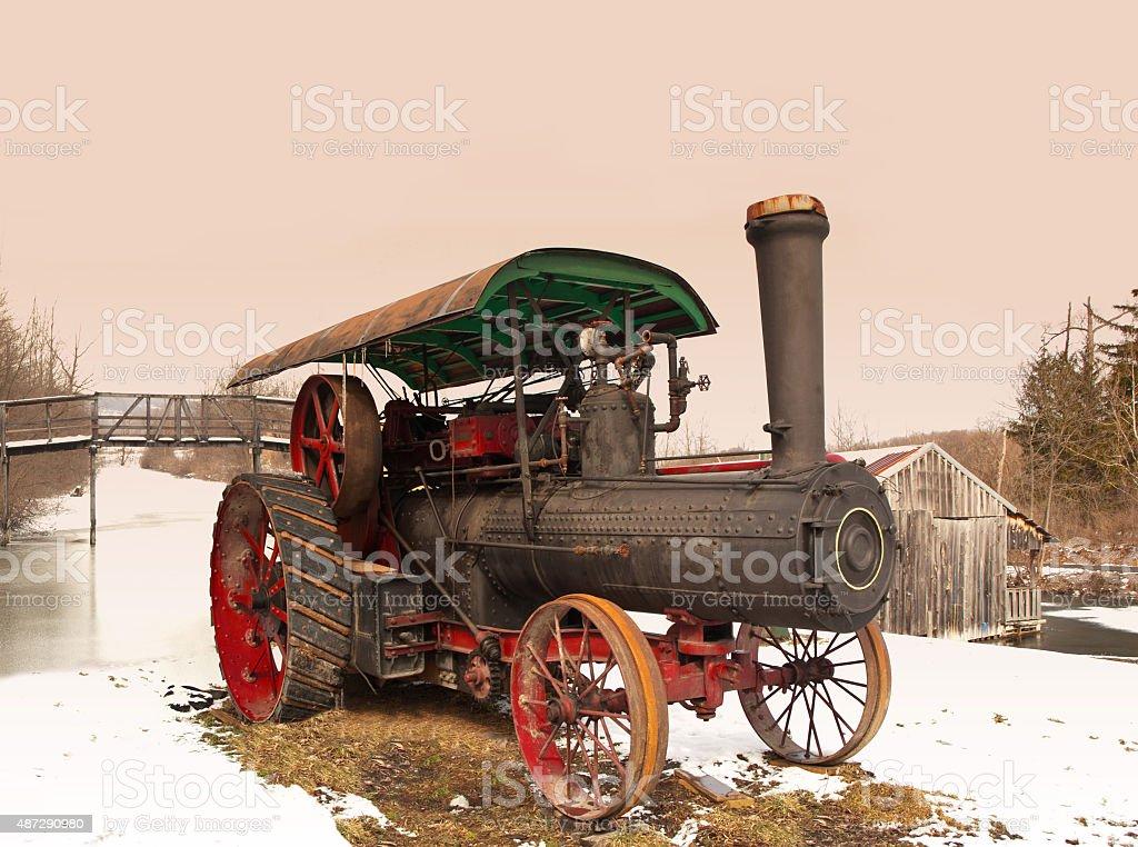 old steam engine stock photo