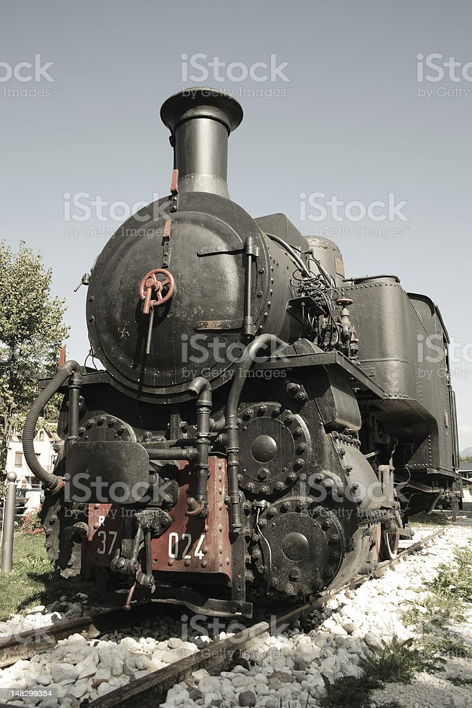 Old steam locomotive royalty-free stock photo