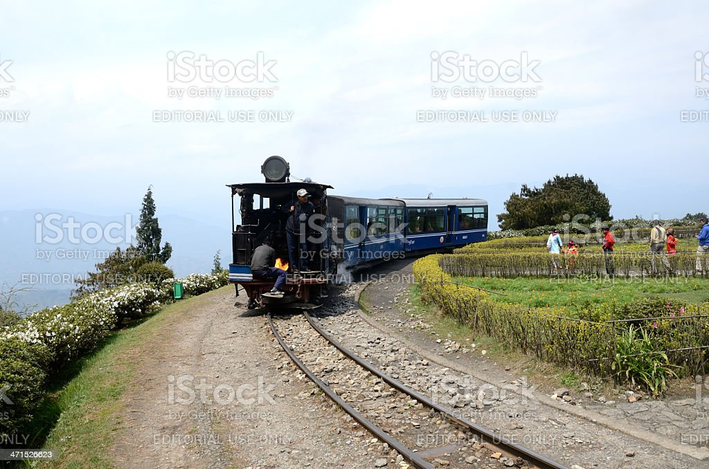 Old Steam Toy Train In Darjeeling India stock photo