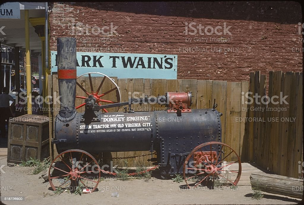 Old Steam Tractor in Virgina City, Nevada stock photo