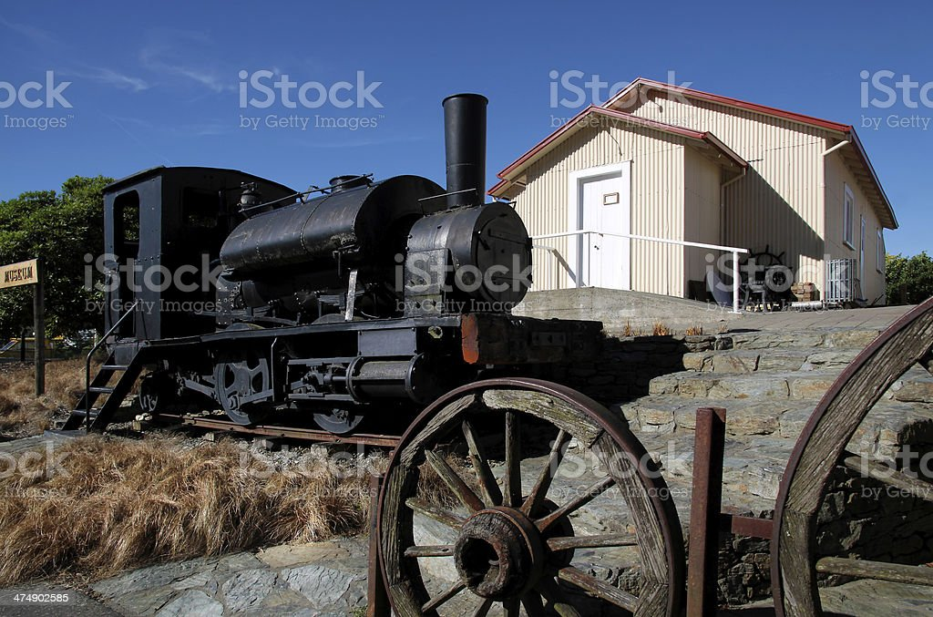 Old steam train royalty-free stock photo