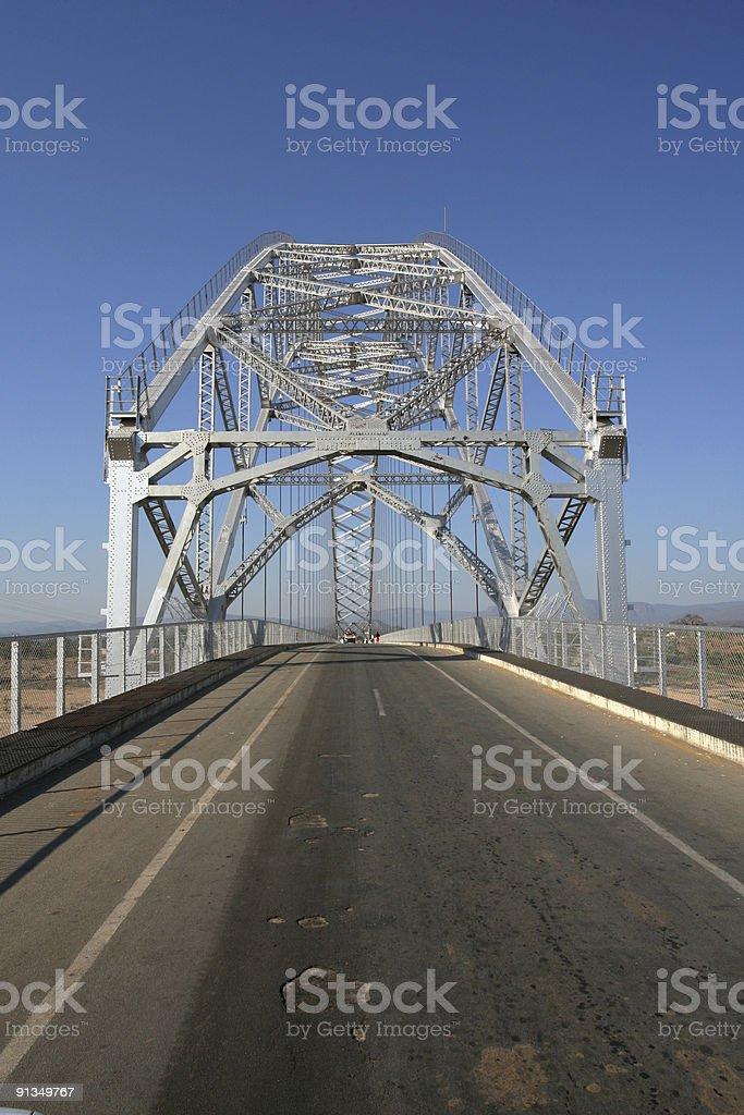 Old Steel Bridge royalty-free stock photo