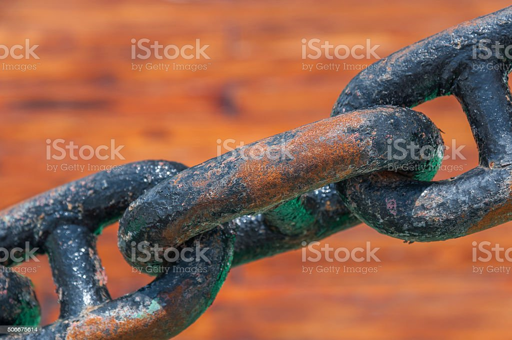 old steel chain stock photo