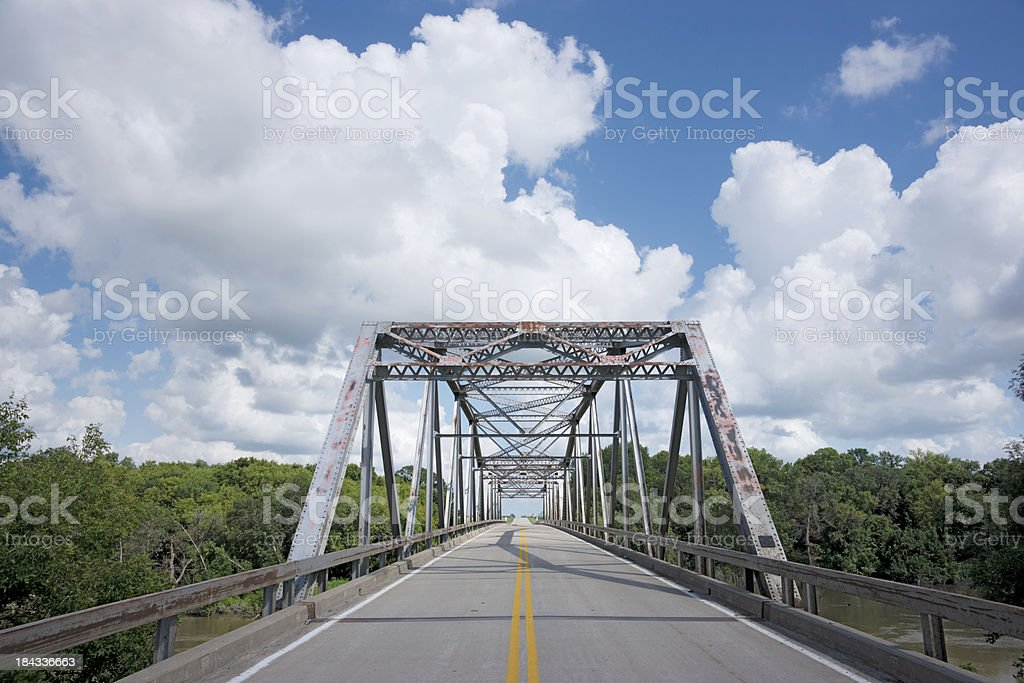 Old Steel Girder Bridge stock photo
