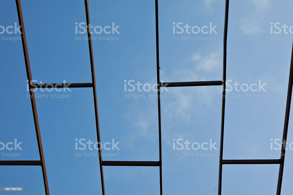 old steel grating royalty-free stock photo
