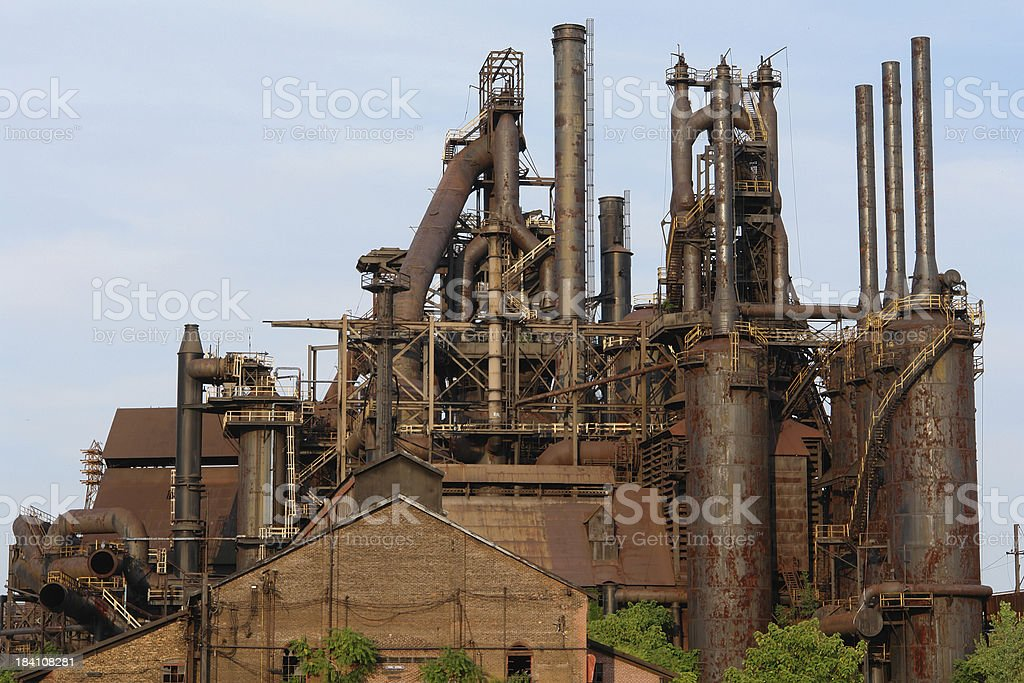 Old steel mill in Pennsylvania stock photo