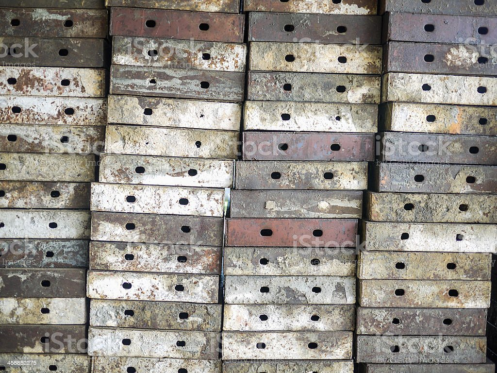 Old steel plate royalty-free stock photo