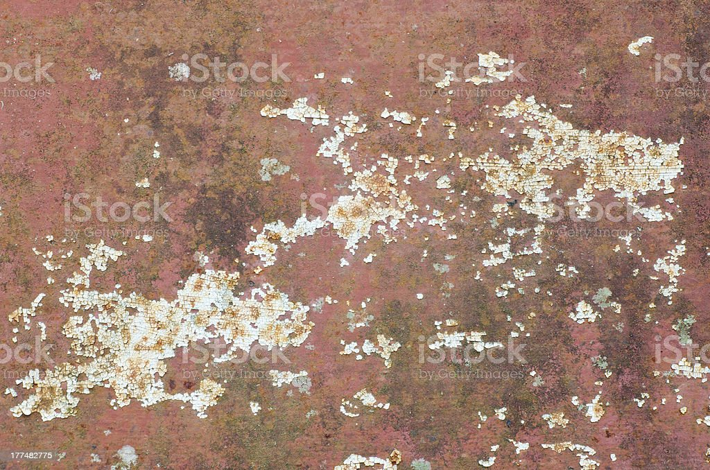 Old steel rusty wall for background royalty-free stock photo