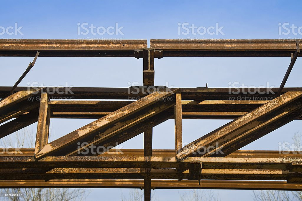 Old steel structure royalty-free stock photo