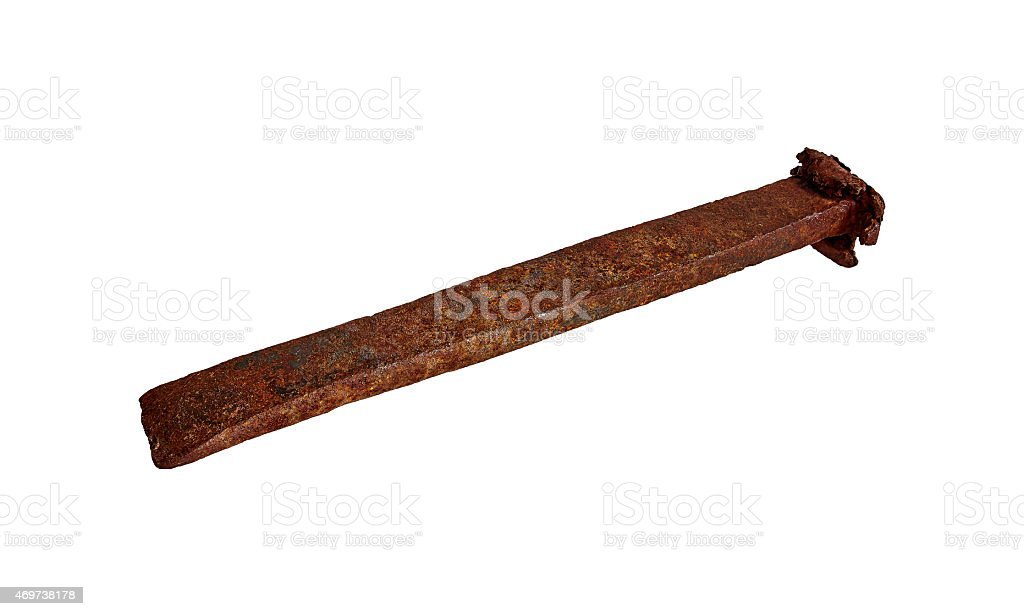 Old steel wedge royalty-free stock photo