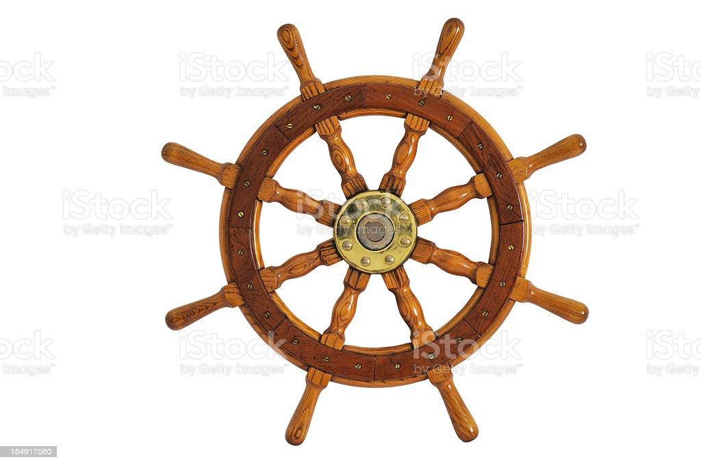 Old Steering Wheel royalty-free stock photo