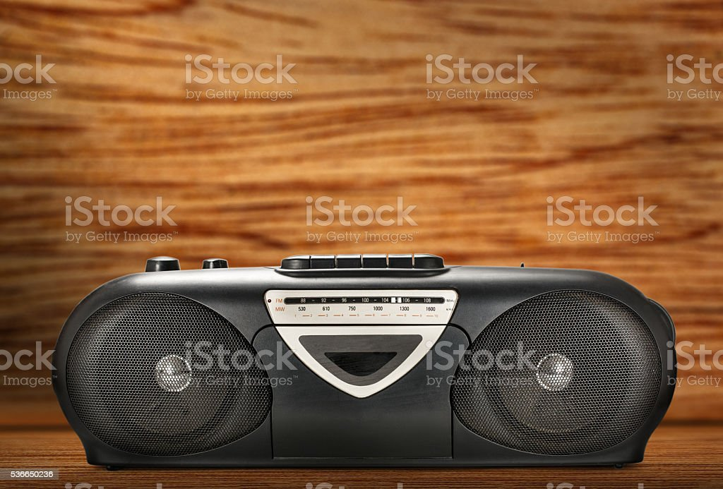 Old stereo tape recorder stock photo