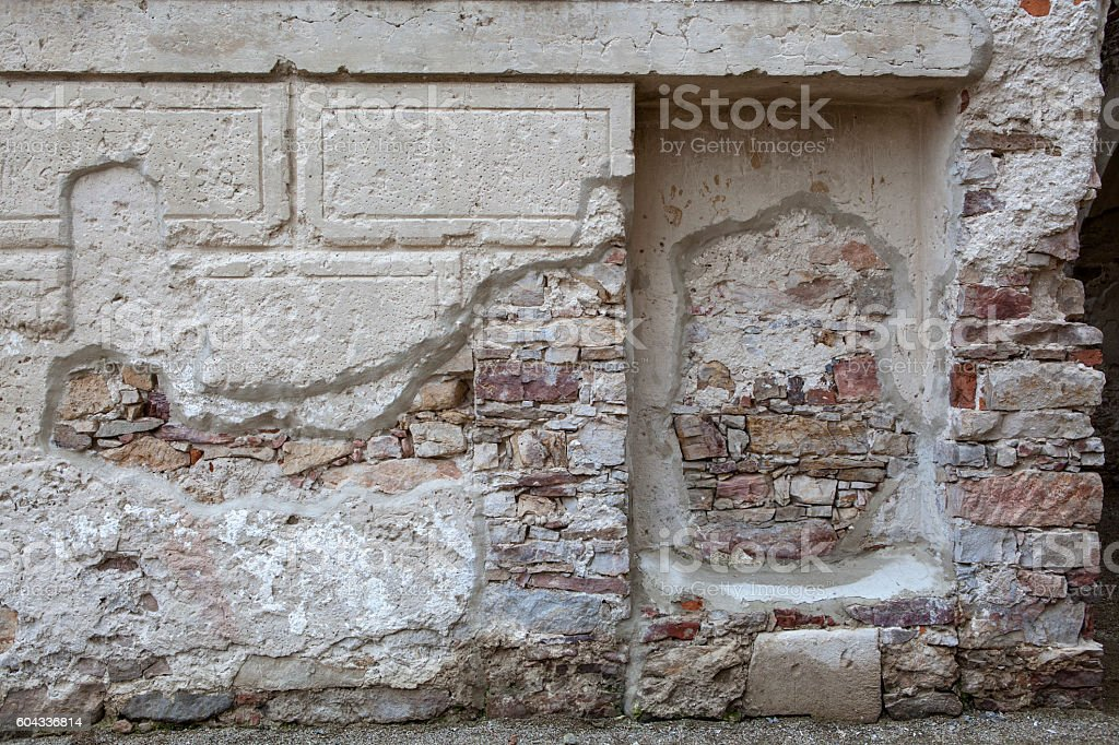 Old stone building stock photo
