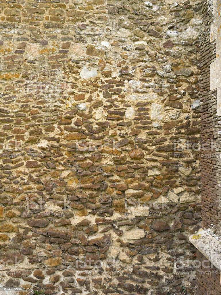 Old stone church wall, background shot stock photo