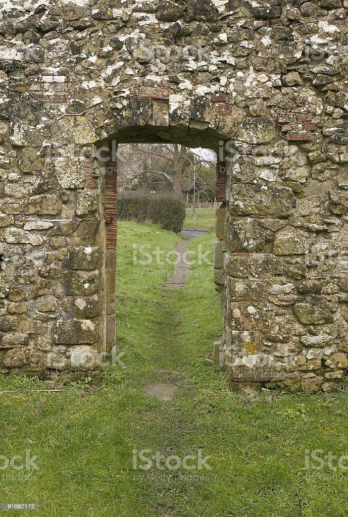 Old stone doorway royalty-free stock photo