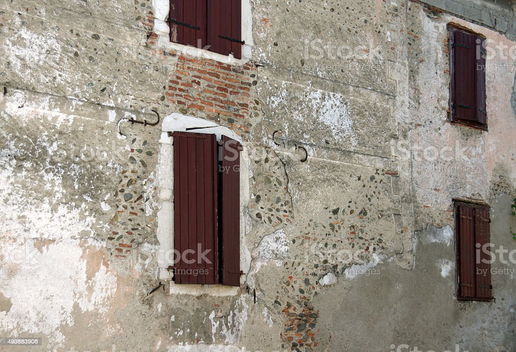 Old stone facade stock photo