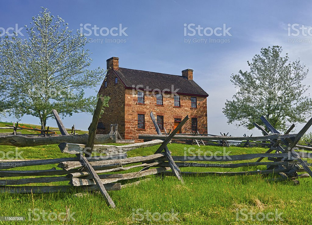 Old Stone House Manassas Battlefield royalty-free stock photo