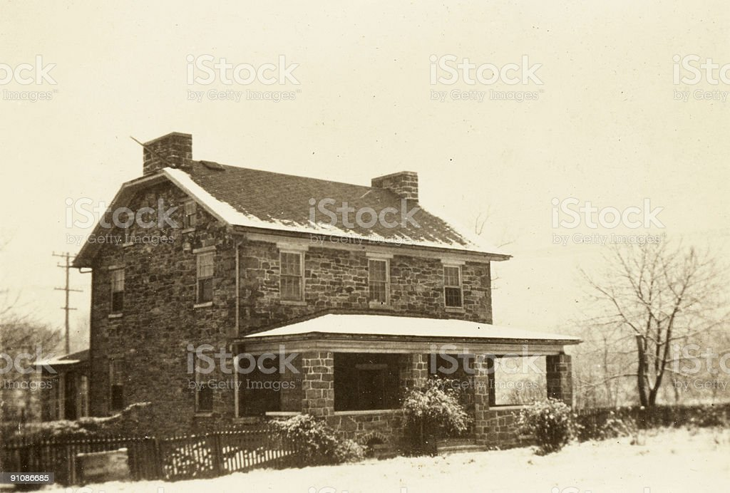 old stone house royalty-free stock photo