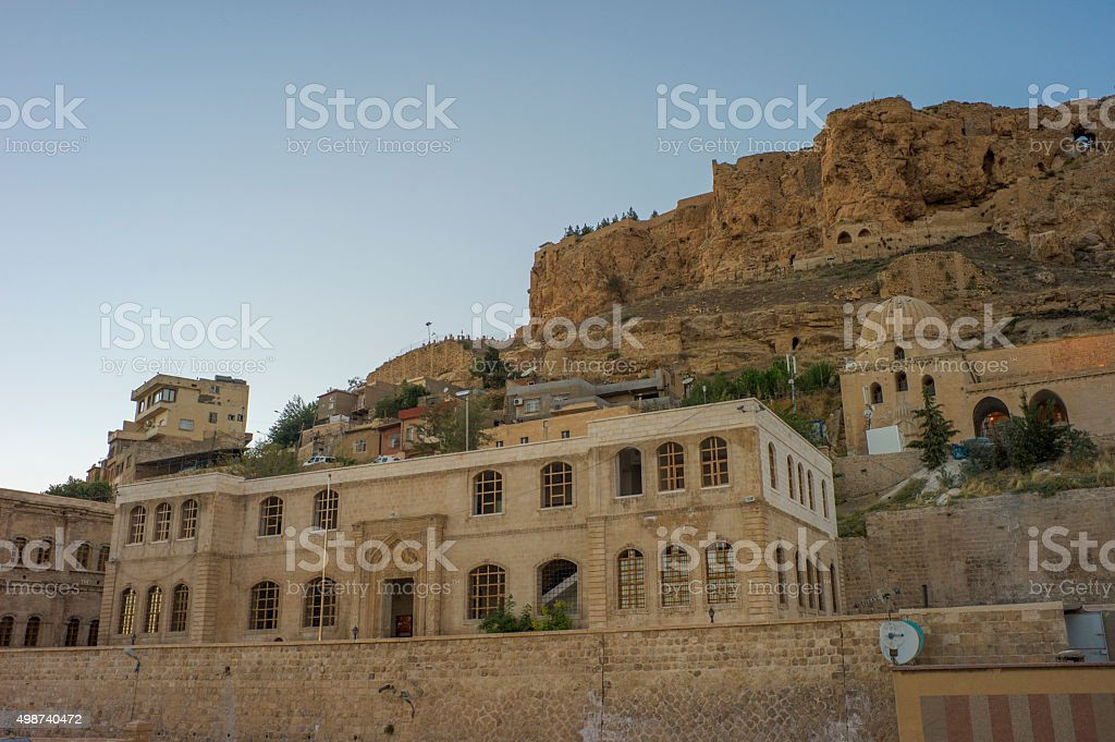 Old stone houses and buildings  at  middleeastern town mardin turkey stock photo