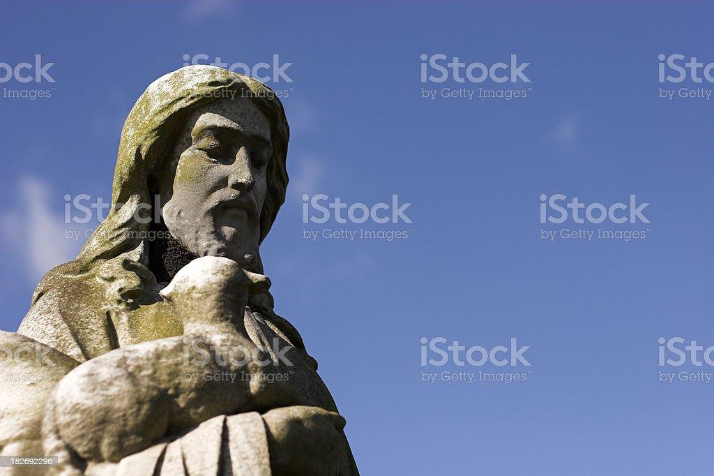 old stone jesus christ statue stock photo