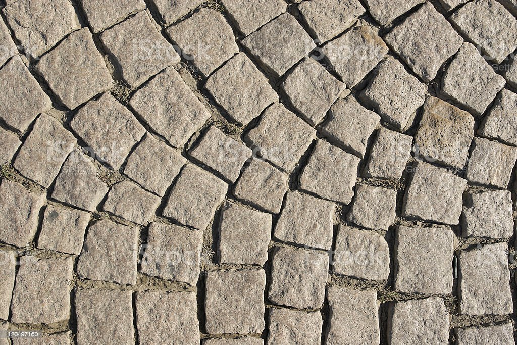 Old stone paved street stock photo