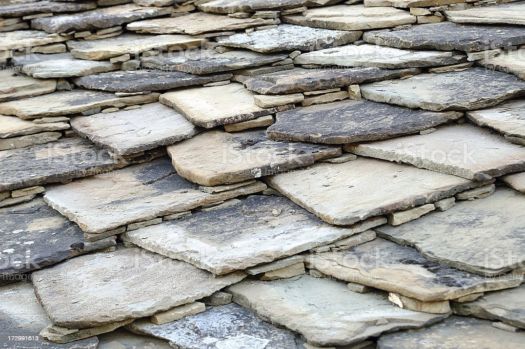 Old stone  roof royalty-free stock photo