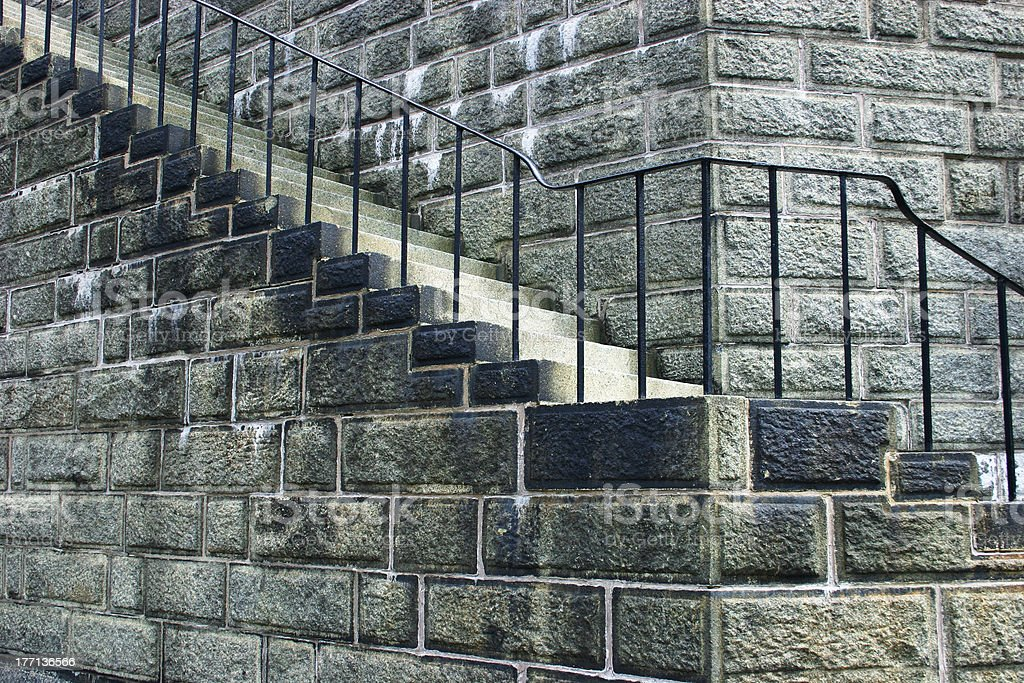 Old Stone Staircase royalty-free stock photo