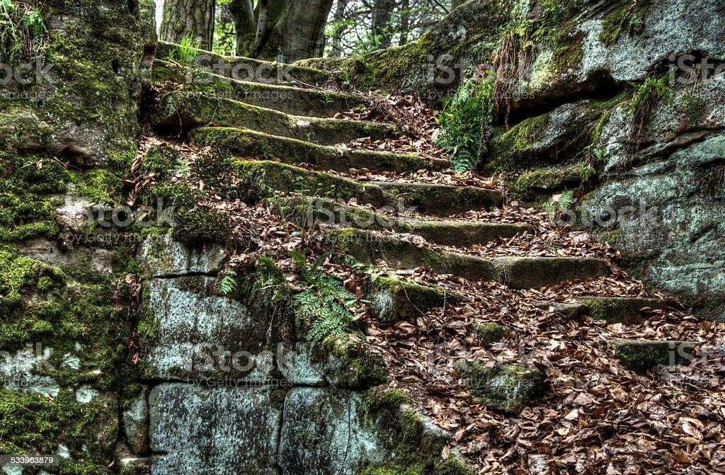 alte Steintreppe stock photo