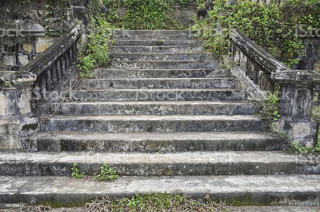 Old Stone Stairs - Imperial Citadel: Vietnam stock photo