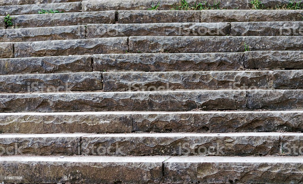 old stone stairs in the park, walk, journey stock photo