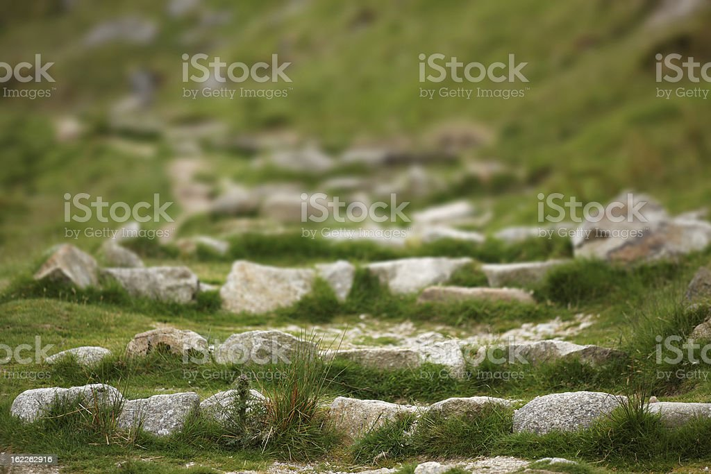 old stone steps in Ireland stock photo