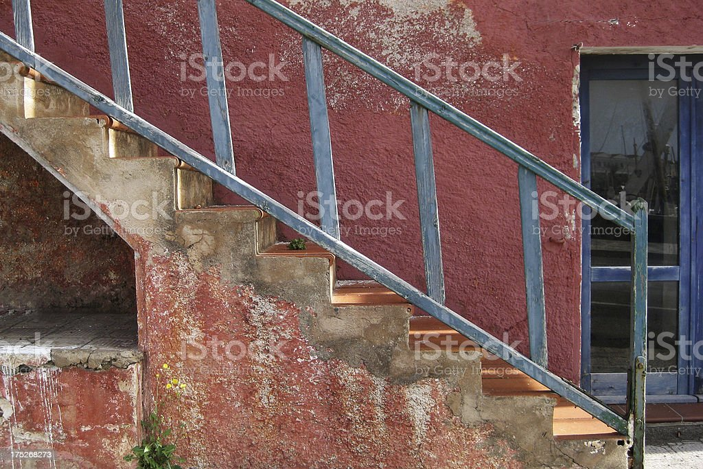 Old Stone Steps royalty-free stock photo