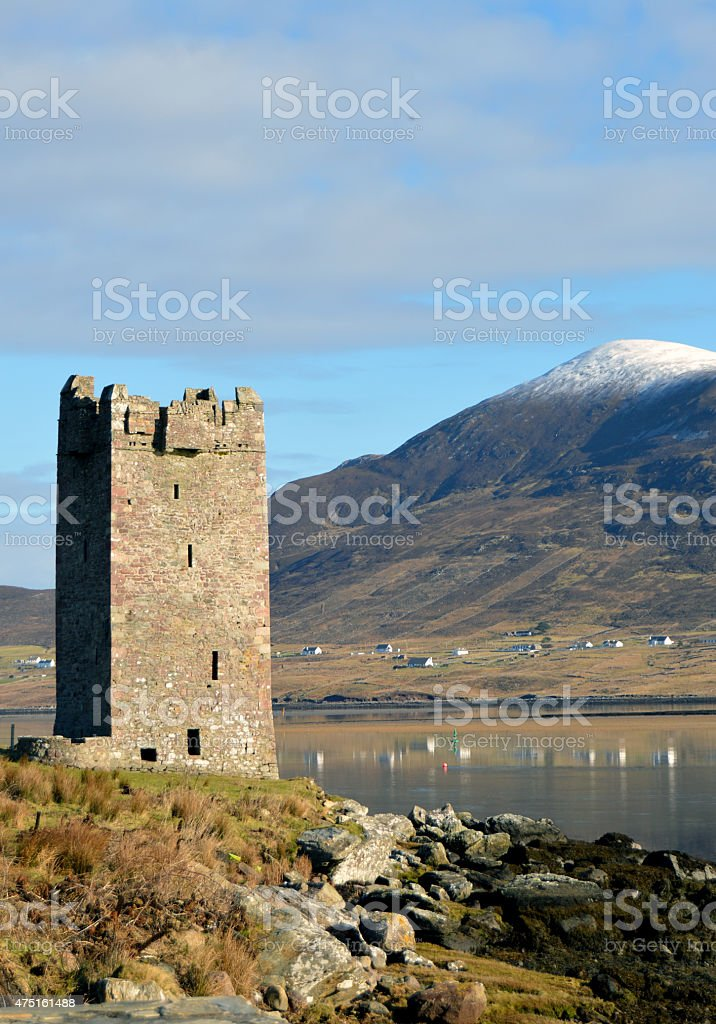 Old stone tower stock photo